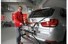 Abgastest auf der Straße, BMW X5, AMS2515