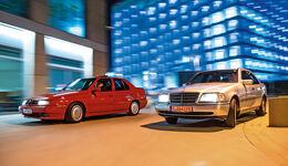Alfa Romeo 155 2.0 Twin Spark, Mercedes C 180, Frontansicht