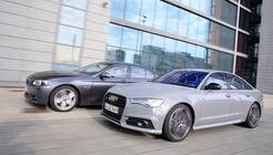 Audi A6 3.0 TDI Competition, BMW 535d, Seitenansicht