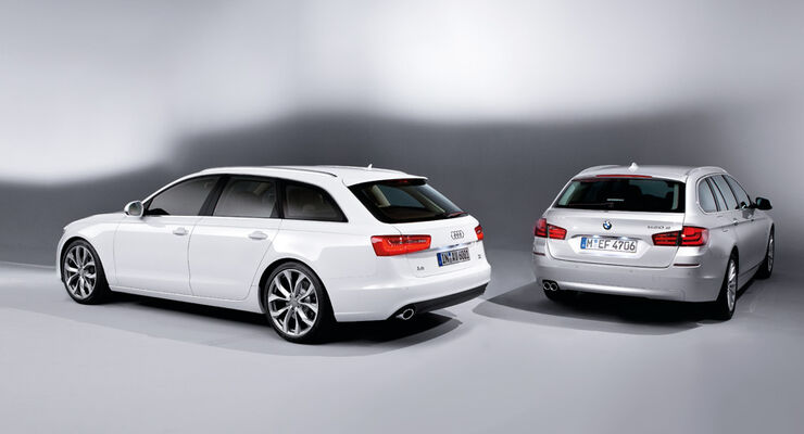 audi a6 avant gegen bmw 5er touring erster vergleich der. Black Bedroom Furniture Sets. Home Design Ideas