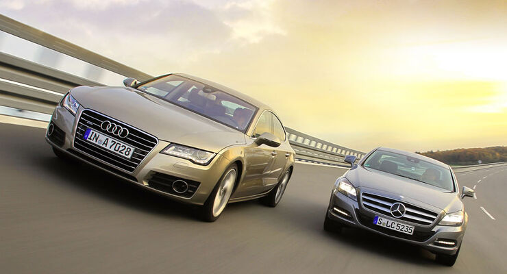 Audi a7 und mercedes cls im test flie heck gegen for Hans dieter heck
