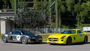 Audi E-Tron, Mercedes SLS AMG E-Cell