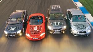 Audi S8, BMW M5, Dodge Viper SRT-10, VW Touareg V10 TDI