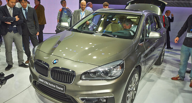 BMW 2er Active Tourer 218d, Genfer Autosalon, Messe, 2014