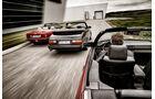 BMW 325i, Mercedes 300 CE-24, Saab 900, Heckansicht