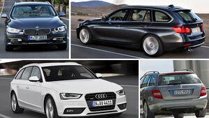 BMW 3er Touring, Audi A4 Avant, Mercedes C-Klasse T-Modell