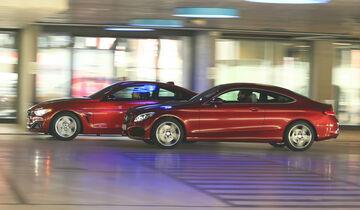 BMW 428i Coupé, Mercedes C 300 Coupé, Seitenansicht