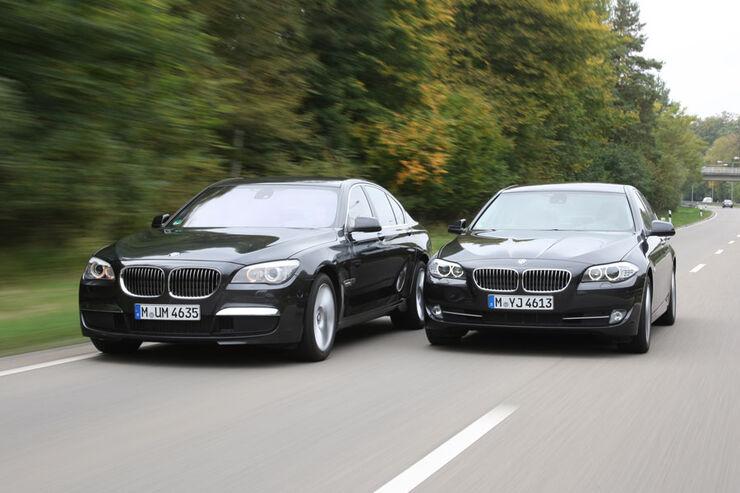 bmw 5er und bmw 7er welche limousine ist die bessere wahl auto motor und sport. Black Bedroom Furniture Sets. Home Design Ideas
