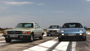 BMW 635 CSI, Mercedes-Benz 450 SLC 5.0, Porsche 928S