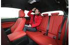 BMW M135i x-Drive, Rücksitz, Beinfreiheit