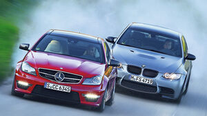 BMW M3 Coupe Competition, Mercedes C 63 AMG Performance Package, Frontansicht