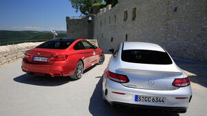 BMW M4 Competition, Mercedes-AMG C63 S Coupé