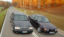 BMW M5, Mercedes-Benz E 500, Frontansicht