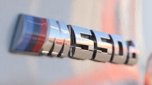BMW M550d x-Drive, Schriftzug, Typenbezeichnung