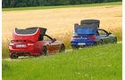 BMW M6 Cabrio, Jaguar XKR-S Cabrio, Verdeck öffnet