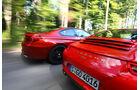 BMW M6 Coupé, Porsche 911 Carrera, Heckansicht