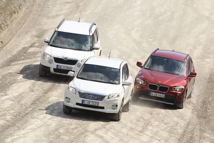 BMW X1 20d x-Drive, Skoda Yeti 2.0 TDI, Toyota RAV 4 2.2 D-Cat