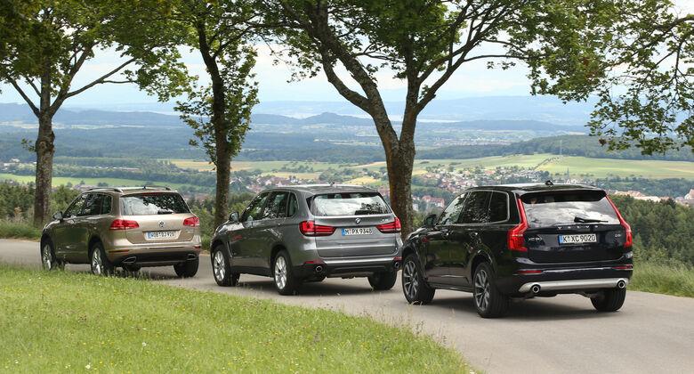 BMW X5, Volvo XC90, VW Touareg,