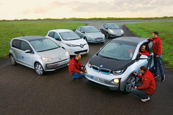 BMW i3, Ford Focus Electric, Nissan Leaf, Renault Zoe, VW E-Up