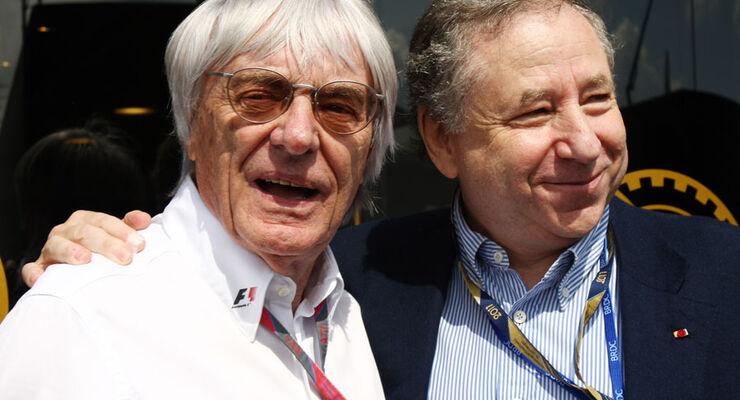 Bernie Ecclestone Jean Todt GP England 2011 Rennen