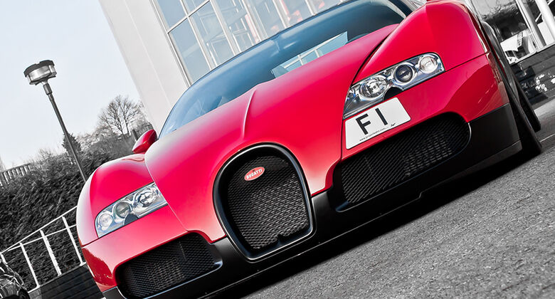 Bugatti Veyron F1-Kennzeichen GB