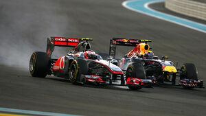 Button vs. Webber GP Abu Dhabi 2011