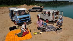 Citroën AK 350, Volvo 240, VW T3 Westfalia Joker, Strand