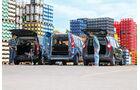 Dacia Lodgy dCi 90, Peugeot Partner Tepee HDi 115, Renault Kangoo dCi 90 energy, Heckansicht