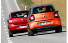 Dacia Sandero TCe 90, Smart Forfour 0.9, Heckansicht