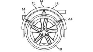 Daimler Patent Spritzwasserkühlung Reifen