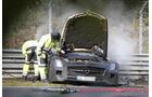 Erlkönig Mercedes SLS AMG Black Series Unfall abgebrannt