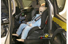 EuroNCAP-Crashtest, Opel Meriva, Kindersitz-Crashtest