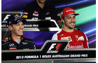 Fernando Alonso & Sebastian Vettel - Formel 1 - GP Australien - 12. März 2013