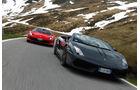 Ferrari 458 Spider, Lamborghini Gallardo Spyder Performante, Frontansicht