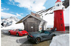 Ferrari 458 Spider, Lamborghini Gallardo Spyder Performante, Seitenansicht