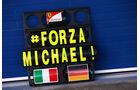 Ferrari - Pitboard Michael Schumacher - Formel 1 - Test - Jerez - 29. Januar 2014