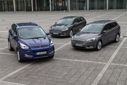 Ford Focus, Ford Mondeo, Ford Kuga, Frontansicht