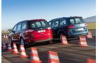 Ford Galaxy 1.5 Ecoboost, VW Sharan 1.4 TSI, Heckansicht