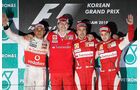 Formel 1 GP Korea 2010 Podium