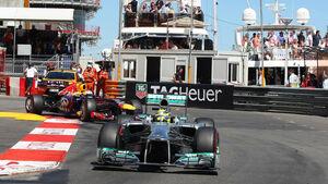 Formel 1 GP Monaco 2013 Nico Rosberg Sebastian Vettel