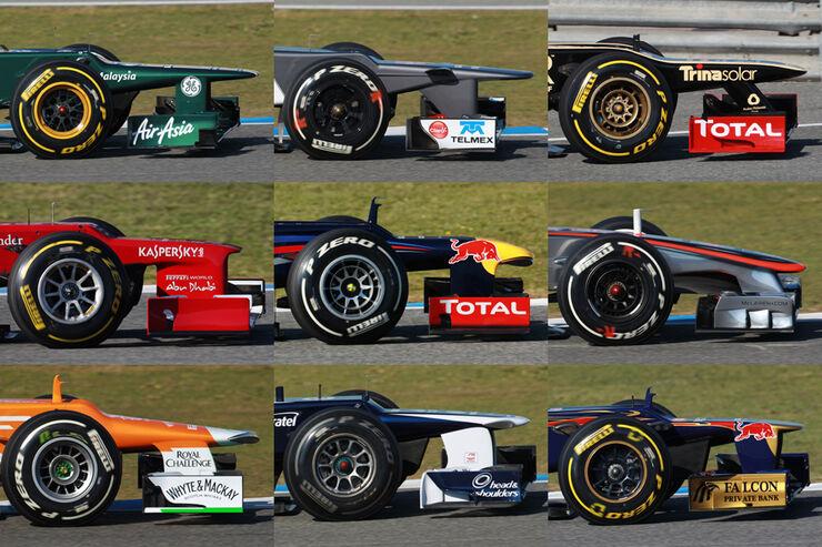Formel 1 Nasen 2012 Collage