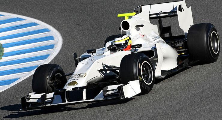 Formel 1-Test, Jerez, 7.2.2012, Pedro de la Rosa, HRT