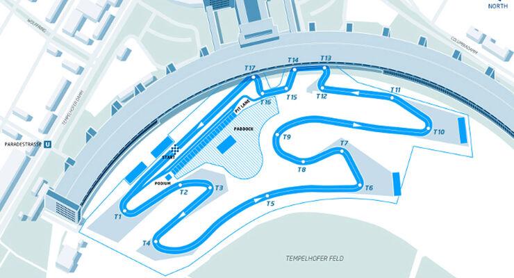 Formel E - Berlin - Formula E - Strecke