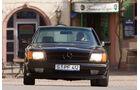 Frontansicht eines Mercedes-Benz 500 SEC-AMG