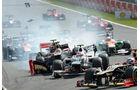 Grosjean GP Belgien F1 Crashs 2012