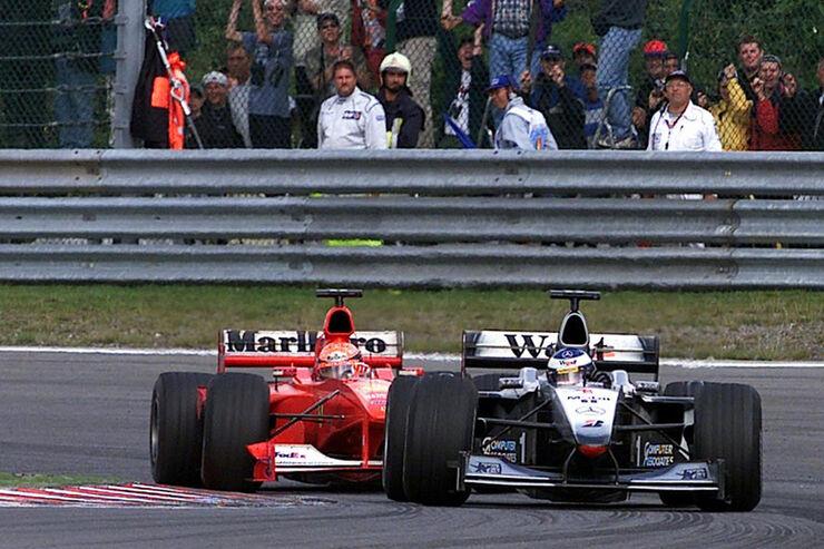 Häkkinen Schumacher GP Belgien 2000
