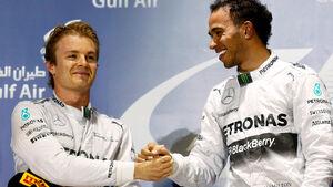 Hamilton & Rosberg - GP Bahrain 2014