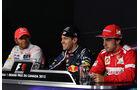 Hamilton, Vettel & Alonso - Formel 1 - GP Kanada - 10. Juni 2012
