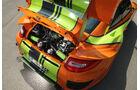 Highspeed-Test, Nardo, ams1511, 391km/h, 9ff Porsche 911 GT3, Motorraum, Heckklappe