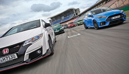 Honda Civic Type R, Vergleichstest, sport auto 9/2016